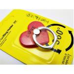 แหวนติดมือถือกากเพชร-หัวใจแดง
