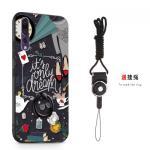 เคส Huawei P20 Pro พลาสติกสกรีนลายการ์ตูนน่ารักๆ พร้อมสายคล้องและแหวน แบบที่ 3