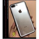 Iphone X เคสอะคริลิคใสขอบสี-ขาว