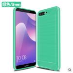 เคส Huawei Y7 Pro 2018 ซิลิโคน TPU แบบนิ่มสีพื้นสวยงามปกป้องตัวเครื่อง แบบที่ 5
