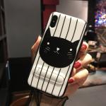 เคส iPhone X พลาสติก TPU สกรีนลายน่ารักมากๆ สามารถดึงกางออกมาตั้งได้ แบบที่ 14