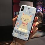 เคส iPhone X พลาสติก TPU สกรีนลายน่ารักมากๆ สามารถดึงกางออกมาตั้งได้ แบบที่ 11