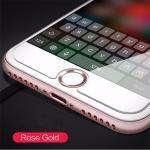 ปุ่มโฮม อลูมิเนียม (สำหรับiPhone/iPad/iPod touch) -ปุ่มขาวขอบpink gold