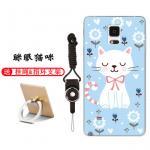 เคส Samsung Note 4 ซิลิโคน soft case สกรีนลายการ์ตูนพร้อมแหวนและสายคล้อง (รูปแบบแล้วแต่ร้านจีนแถมมา) น่ารักมาก แบบที่ 5