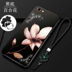 เคส OPPO F5 / F5 Youth / F5 6GB ซิลิโคนแบบนิ่ม สกรีนลายดอกไม้ สวยงามมากพร้อมสายคล้องมือ แบบที่ 3