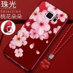 เคส Samsung S6 Edge Plus ซิลิโคนแบบนิ่ม สกรีนลายดอกไม้ สวยงามมากพร้อมสายคล้องมือ แบบที่ 3