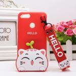 เคส Huawei Y9 (2018) ซิลิโคน soft case แบบนิ่มน่ารักมาก พร้อมสายคล้องเข้าชุด แบบที่ 3