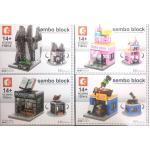 Mini Street เมืองจิ๋ว - Sembo Block SD 6030-6033 Mini City เมืองจิ๋ว ชุด 4 กล่อง