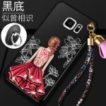 เคส Samsung S6 Edge Plus พลาสติกลายผู้หญิงแสนสวย พร้อมที่คล้องมือ สวยมากๆ แบบที่ 4