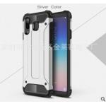 เคส Samsung A8 Star เคสกันกระแทกแยกประกอบ 2 ชิ้น ด้านในเป็นซิลิโคนสีดำ ด้านนอกพลาสติกเคลือบเงาโลหะเมทัลลิค แบบที่ 10