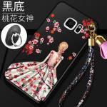 เคส Samsung S6 Edge Plus พลาสติกลายผู้หญิงแสนสวย พร้อมที่คล้องมือ สวยมากๆ แบบที่ 8