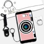 เคส Samsung A9 Pro ซิลิโคน soft case สกรีนลายการ์ตูนน่ารักๆ พร้อมสายคล้องและแหวน แบบที่ 11