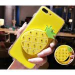 เคสซ่อนกระจกลายผลไม้ ไอโฟน 6Plus/6s plus 5.5นิ้ว-ลายสัปปะรด-เหลือง