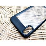 Iphone X เคสหลังแข็งบางขอบสีทึบ-ดำ