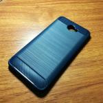 เคสนิ่ม TPU รุ่น Huawei Y7 2017 ลายคาร์บอนเคฟล่า สีน้ำเงิน
