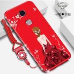 เคส Huawei GR5 2016 ลายผู้หญิง สีแดง#1