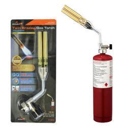 หัวไฟแช็คแก๊สความร้อนสูงหัวทองเหลืองคู่ Brazing Kovea KT-2108 ร้อนแรงสุดๆ สำหรับเชื่อมทองแดง