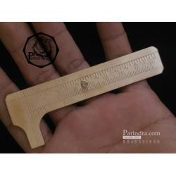 เวอร์เนียทองเหลือง Vernier Caliper Double Scale ใช้วัดขนาดชิ้นส่วนต่างๆ มีทั้งเซนติเมตรและนิ้ว