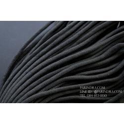 เชือกพาราคอร์ด PARACORD 550 สีดำ ใช้ได้งานได้เอนกประสงค์