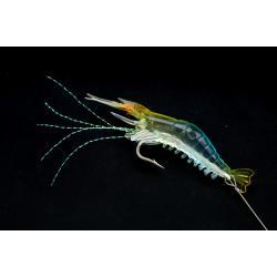เหยื่อปลอมตกปลา กุ้งยาง นุ่มนิ่ม สีฟ้าใส เรืองแสง ตกปลาทะเล #003
