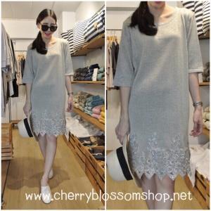 Glitter Grey Knit Dress เดรสไหมพรมสีเงินวิ้งๆ