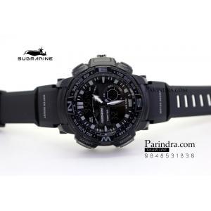 นาฬิกา US submarine Adventure Protector รุ่น TP3184M สีดำ-เทา จอดำ