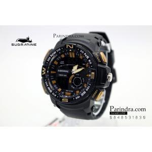 นาฬิกา US submarine Adventure Protector รุ่น TP3184M สีดำ-ทอง จอดำ