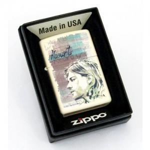 """ไฟแช็ค Zippo แท้ """" Zippo 29051 KURT COBIAN Cream Matte Finish Lighter """" แท้นำเข้า 100%"""
