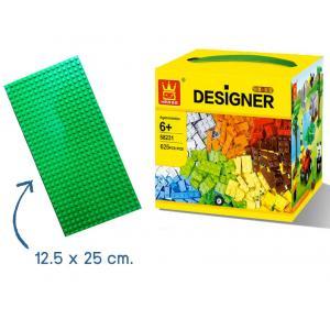ตัวต่ออิสระ 58231 จำนวน 625 ชิ้น +เพลทเขียว 12.5x25 cm (สำหรับ 5 ขวบขึ้นไป)