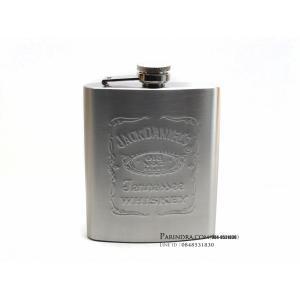 กระป่องสแตนเลส Jack Daniel's อย่างดี สำหรับพกพา บรรจุ 7 oz.