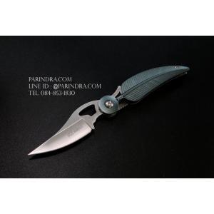 มีดพับรูปใบไม้ KNIFE ดีไซน์สวย ขนาด 7.25 นิ้ว