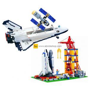 อวกาศ (Space) E-set 2. ตัวต่อเลโก้จีน กระสวยอวกาศคู่่ (ชุด 2 กล่อง)