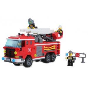 ดับเพลิง (Fire fight) E-904. ตัวต่อเลโก้จีน รถกระเช้าเล็ก