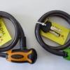 สายล็อค ขนาด 12 x 65 cm. (สลิงสีดำ) หัวกุญแจสีส้ม, ฟ้า, บรอน, เทา, เขียว+ ลูกกุญแจ