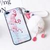 เคส iPhone 7 Plus (5.5 นิ้ว) พลาสติกลายนกฟลามิงโกน่ารักมาก พร้อมที่ห้อยเข้าชุด ราคาถูก