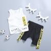 ชุดเซตเสื้อกล้ามสีขาว+กางเกงสีดำ [size 6m-1y-2y-3y]