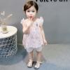 ชุดเซตเสื้อสีชมพูลายหงส์+กางเกงสีขาว[size 6m-1y-18m-2y-3y]