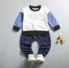เสื้อ+กางเกง ปกสีกรม แพ็ค 4ชุด ไซส์ 80-90-100-110 (เหมาะสำหรับ 6ด.-4ปี)