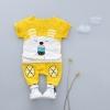 ชุดเซตเสื้อสีเหลืองลายกระต่าย+กางเกงเหลือง แพ็ค 1 ชุด [size 1y]