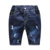 กางเกงยีนส์เด็กสีเข้มแต่งรอยข่วน [size 2y-3y-4y-5y-6y]