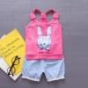 ชุดเซตเสื้อกล้ามลายกระต่ายสีบานเย็น+กางเกง [size 6m-1y-2y-3y]