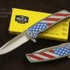 มีดพับ Buck Knives DA131 ด้ามลายธงชาติอเมริกา (OEM)