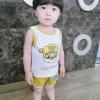 ชุดเซตเสื้อกล้ามลายน้องหมาสีเหลือง แพ็ค 5 ชุด [size 6m-1y-18m-2y-3y]