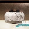 พร้อมส่ง Evening Clutch กระเป๋าออกงาน สีขาว ลายหินอ่อน วัสดุ PU เนื้อดี (พร้อมสายโซ่)