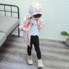 เสื้อแจ็คเก็ตลายสัตว์สีชมพูมีฮู้ดด้านหลัง แพ็ค 5 ชุด [size 9m-1y-18m-2y-3y]