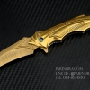มีดพับทรงใบโค้ง ใบลายดามัสกัส สีทอง สวยมาก