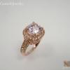 แหวนเงินพิงค์อเมทิสต์(Silver ring pink amethyst)