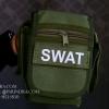 กระเป๋าคาดเอว รุ่น SX-011 ผ้าไนลอนลาย SWAT สีเขียวทหาร