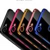 เคส VIVO V7 ซิลิโคนแบบนิ่มโปร่งใสขอบสีเมทัลลิคสวยงาม ราคาถูก