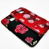 ซัมซุง S7 edge เคสนิ่มขอบเพชรเนื้อด้านลายดอกกุหลาบ